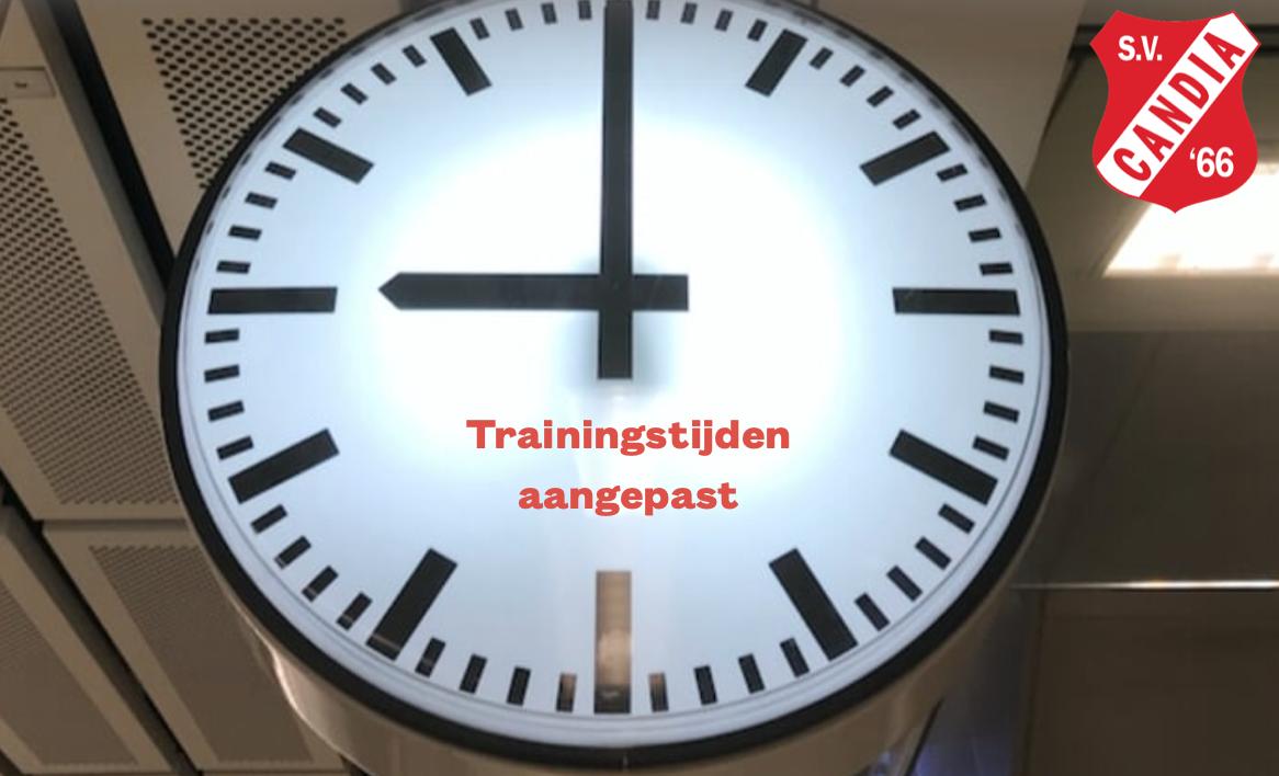 Nieuwe trainingstijden jeugd ivm avondklok