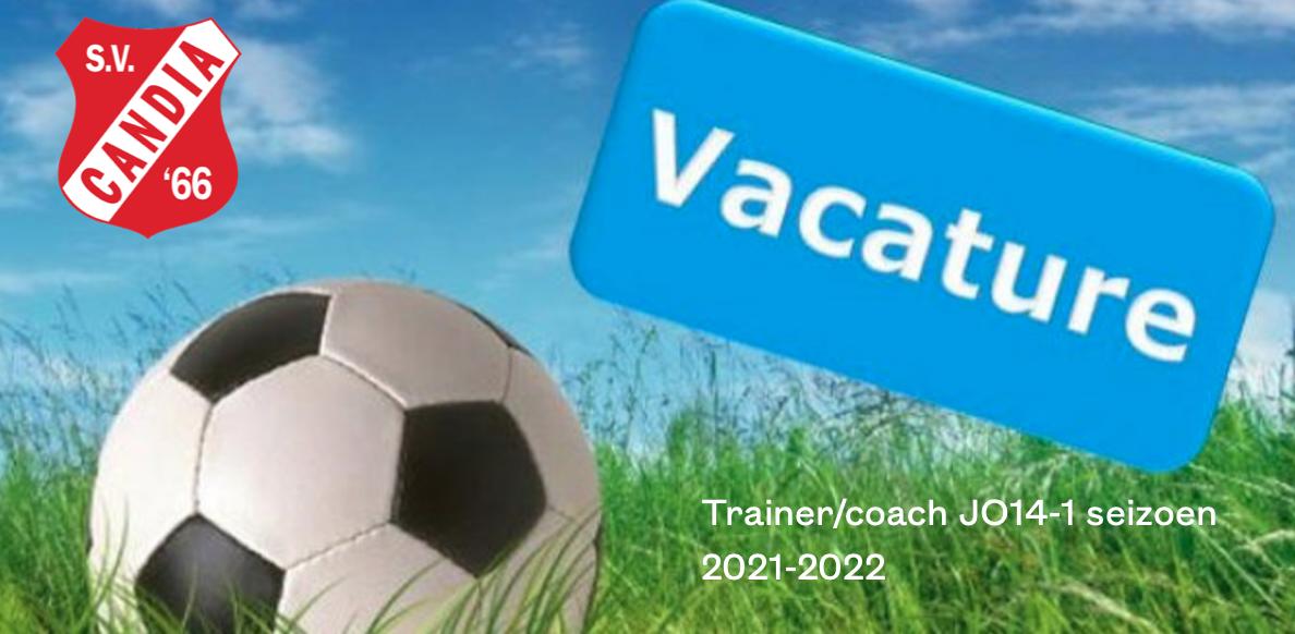 Candia'66 zoekt een ambitieuze en enthousiaste trainer/coach voor :  JO14-01