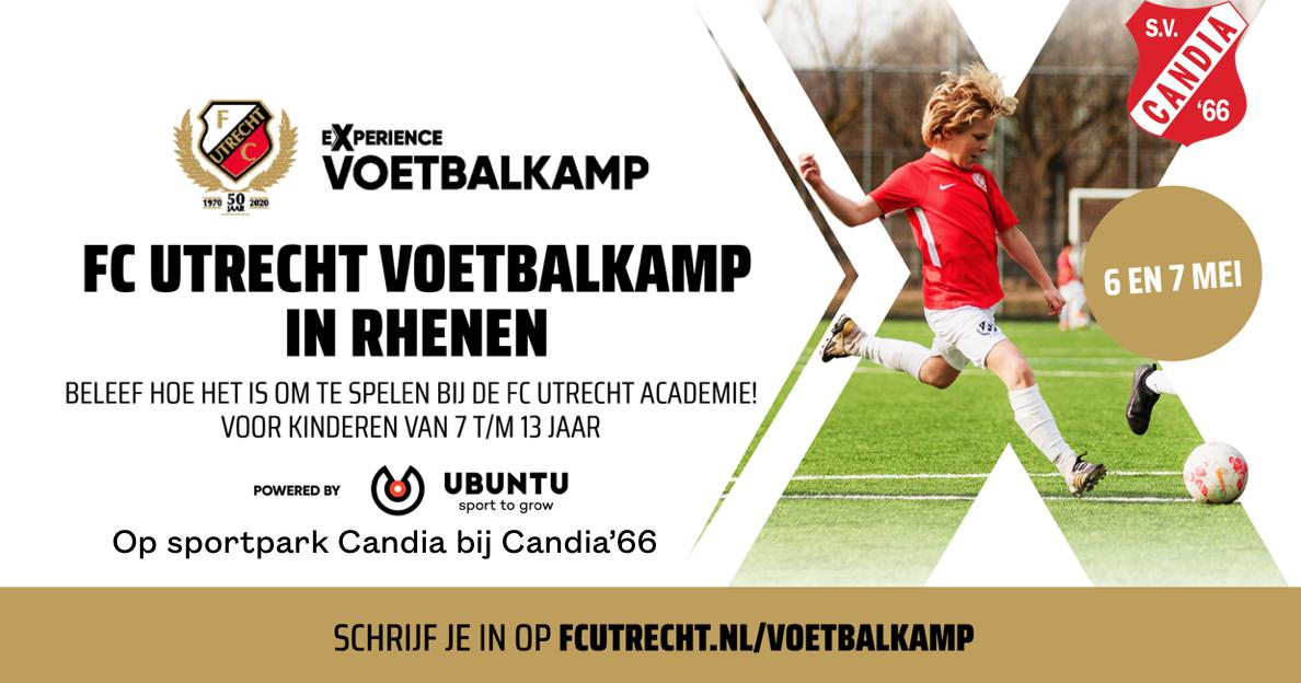FC Utrecht voetbalkamp in de meivakantie