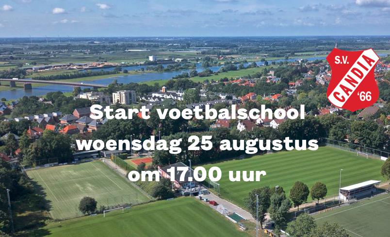 Start Voetbalschool op woensdag 25 augustus